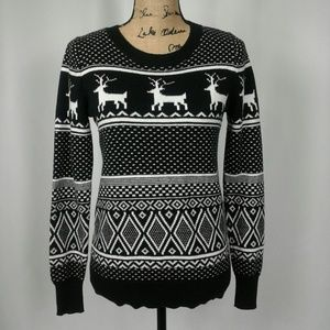 Old Navy knit reindeer holiday christmas sweater M